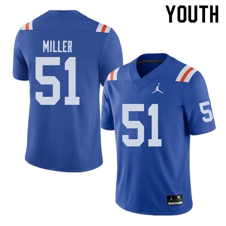 Youth Florida Gators #51 Ventrell Miller Alternate Throwback Jordan Brand NCAA College Football Jersey YWZ062RJ