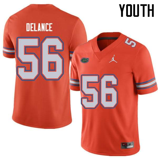Youth Florida Gators #56 Jean DeLance Orange Jordan Brand NCAA College Football Jersey FQA166HJ