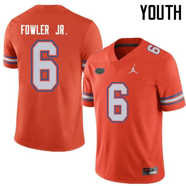 Youth Florida Gators #6 Dante Fowler Jr. Orange Jordan Brand NCAA College Football Jersey GMD151KJ