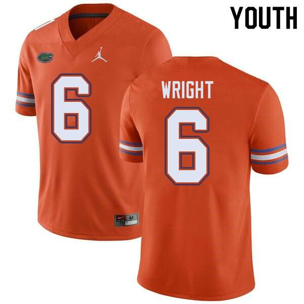 Youth Florida Gators #6 Nay'Quan Wright Orange Jordan Brand NCAA College Football Jersey CAN240HJ