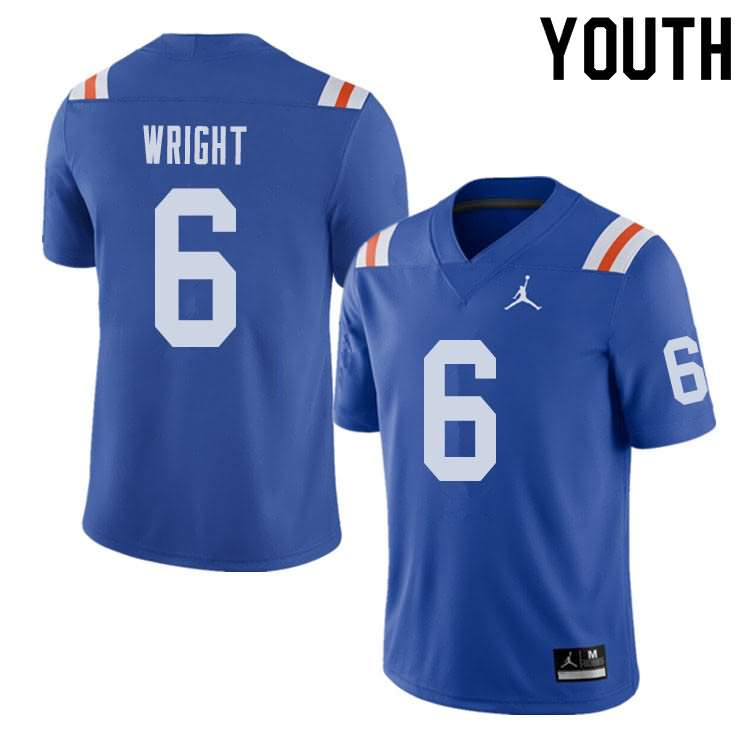 Youth Florida Gators #6 Nay'Quan Wright Alternate Throwback Jordan Brand NCAA College Football Jersey FXN641QJ