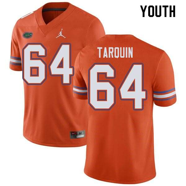 Youth Florida Gators #64 Michael Tarquin Orange Jordan Brand NCAA College Football Jersey LMD660NJ