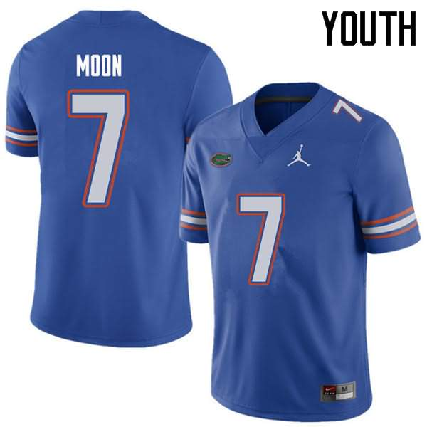Youth Florida Gators #7 Jeremiah Moon Royal Jordan Brand NCAA College Football Jersey NIS513NJ