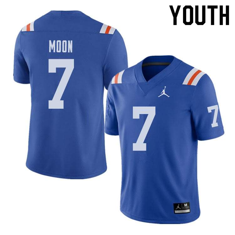 Youth Florida Gators #7 Jeremiah Moon Alternate Throwback Jordan Brand NCAA College Football Jersey QBF228IJ