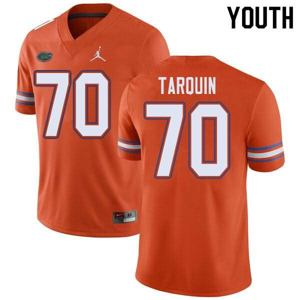 Youth Florida Gators #70 Michael Tarquin Orange Jordan Brand NCAA College Football Jersey TQP450IJ