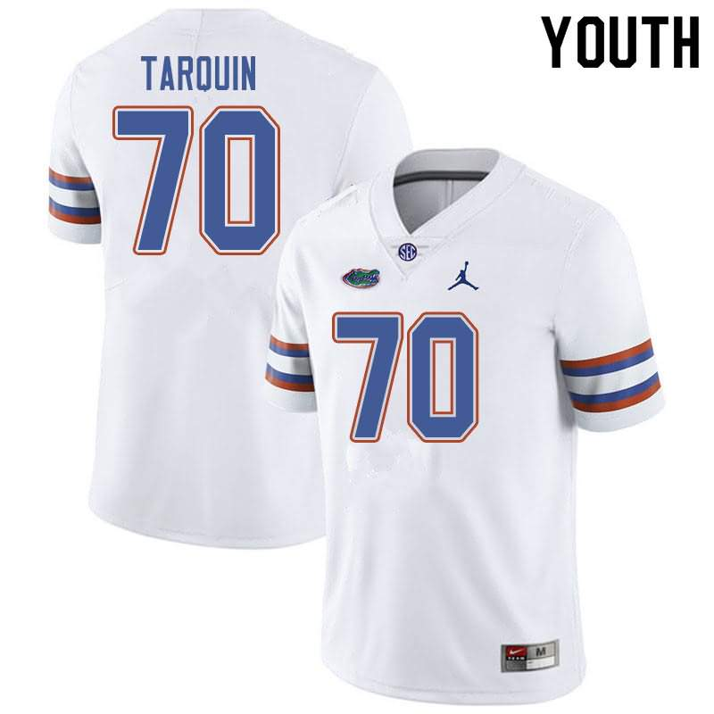 Youth Florida Gators #70 Michael Tarquin White Jordan Brand NCAA College Football Jersey BLT164UJ