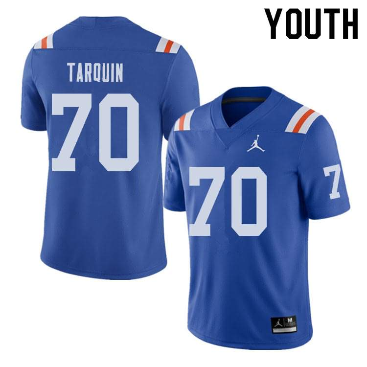 Youth Florida Gators #70 Michael Tarquin Alternate Throwback Jordan Brand NCAA College Football Jersey OBO303TJ