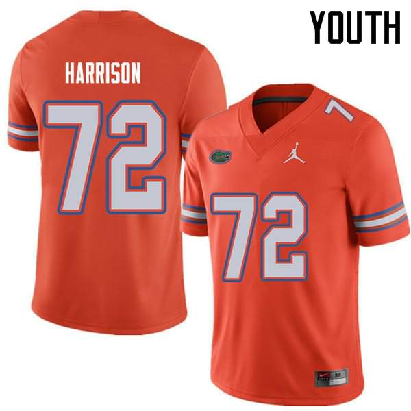 Youth Florida Gators #72 Jonotthan Harrison Orange Jordan Brand NCAA College Football Jersey GQE066UJ