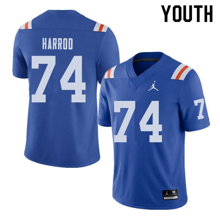 Youth Florida Gators #74 Will Harrod Alternate Throwback Jordan Brand NCAA College Football Jersey HGP021LJ