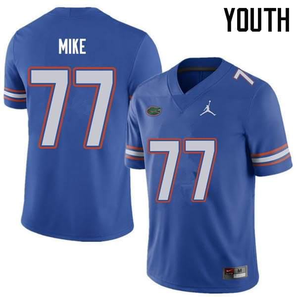 Youth Florida Gators #77 Andrew Mike Royal Jordan Brand NCAA College Football Jersey PKE504BJ