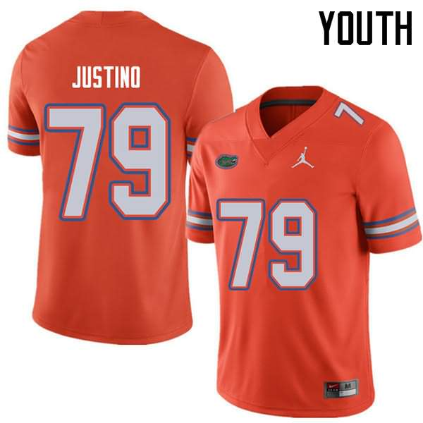 Youth Florida Gators #79 Daniel Justino Orange Jordan Brand NCAA College Football Jersey CNC155BJ