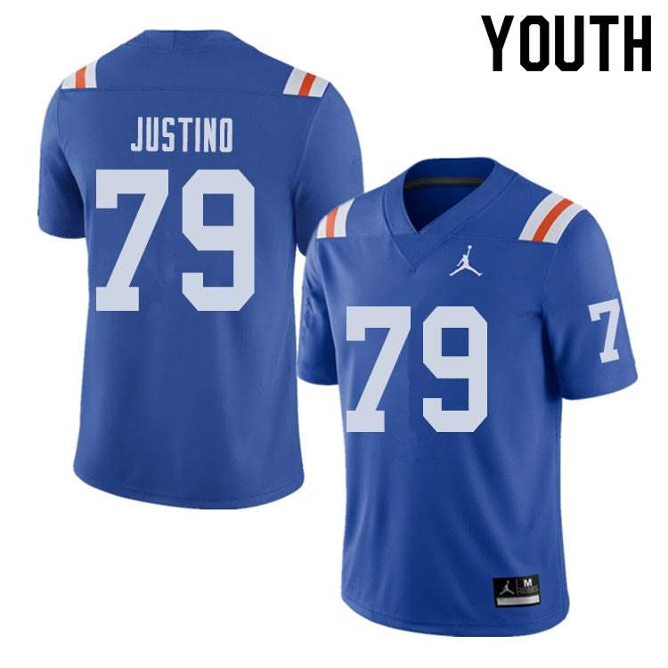 Youth Florida Gators #79 Daniel Justino Alternate Throwback Jordan Brand NCAA College Football Jersey KDK318PJ