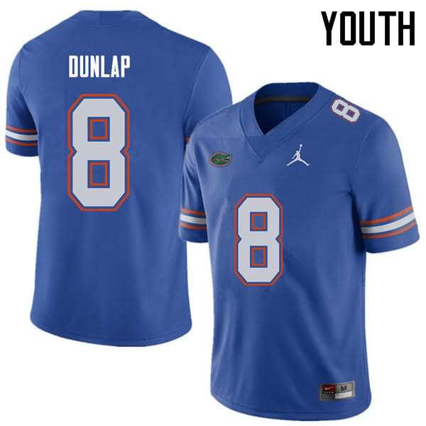 Youth Florida Gators #8 Carlos Dunlap Royal Jordan Brand NCAA College Football Jersey YLQ113LJ