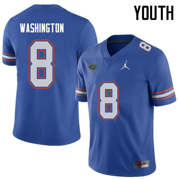Youth Florida Gators #8 Nick Washington Royal Jordan Brand NCAA College Football Jersey DOP303SJ