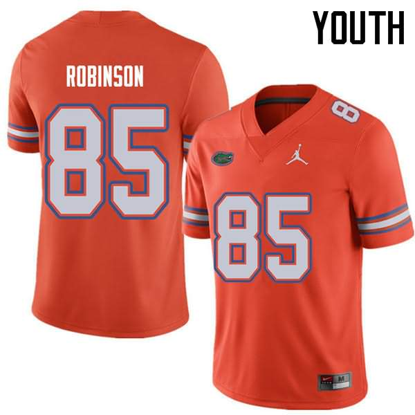Youth Florida Gators #85 James Robinson Orange Jordan Brand NCAA College Football Jersey AMS414XJ