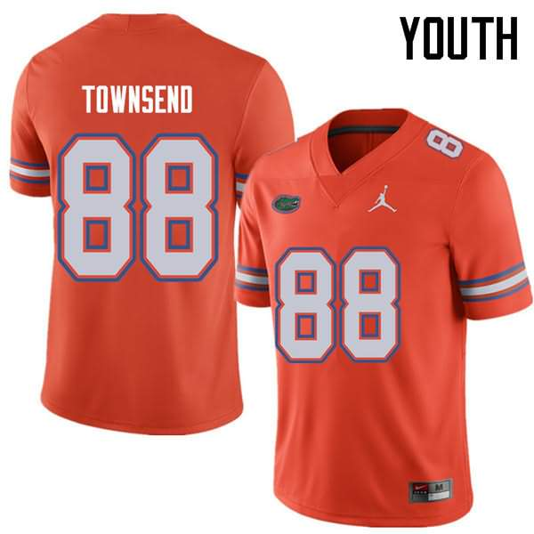 Youth Florida Gators #88 Tommy Townsend Orange Jordan Brand NCAA College Football Jersey JHR485AJ