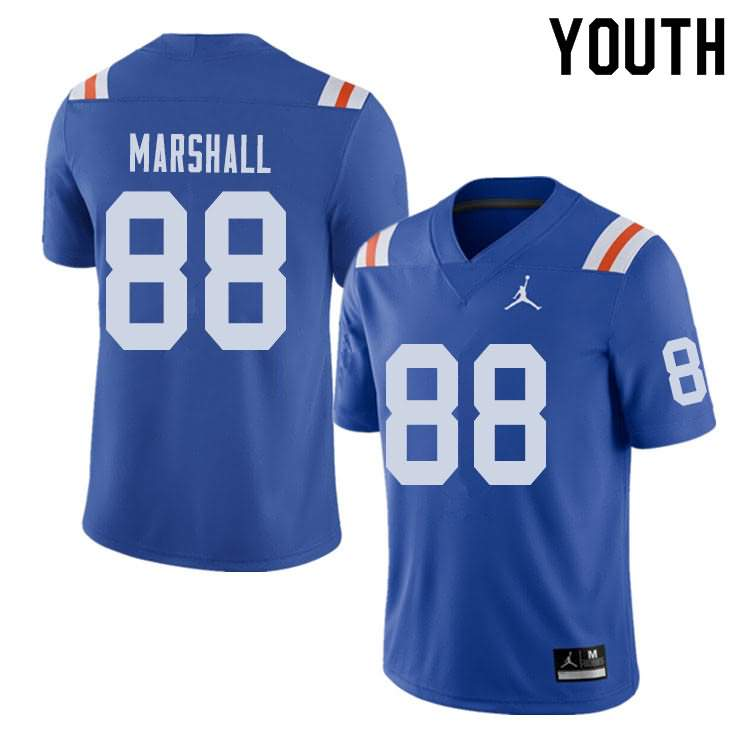 Youth Florida Gators #88 Wilber Marshall Alternate Throwback Jordan Brand NCAA College Football Jersey OAH056CJ