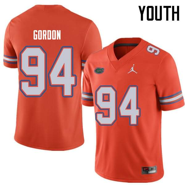 Youth Florida Gators #94 Moses Gordon Orange Jordan Brand NCAA College Football Jersey QSZ843SJ