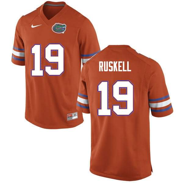 Men's Florida Gators #19 Jack Ruskell Orange Nike NCAA College Football Jersey XUW168UJ