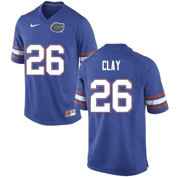 Men's Florida Gators #26 Robert Clay Blue Nike NCAA College Football Jersey ROK611EJ