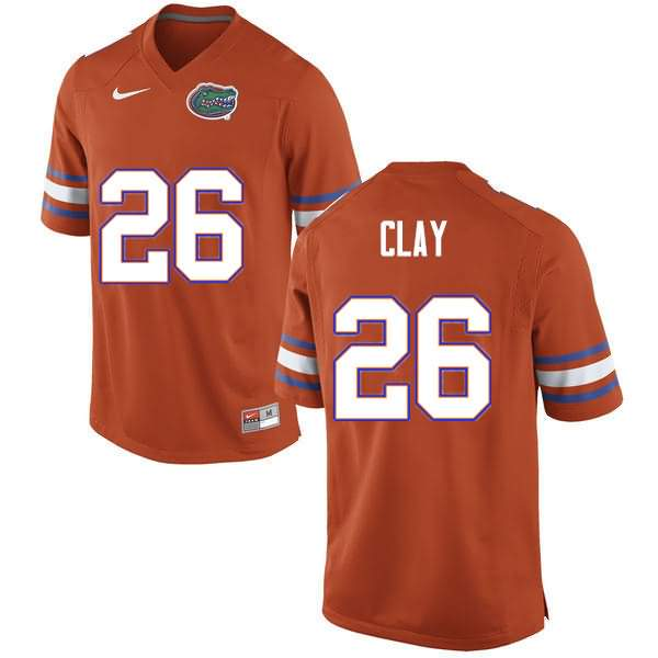 Men's Florida Gators #26 Robert Clay Orange Nike NCAA College Football Jersey SSU401TJ