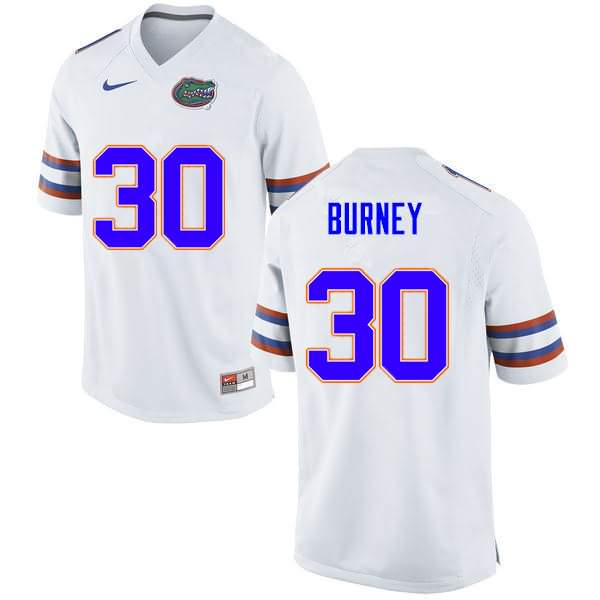 Men's Florida Gators #30 Amari Burney White Nike NCAA College Football Jersey EUN653AJ