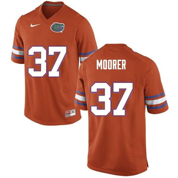 Men's Florida Gators #37 Patrick Moorer Orange Nike NCAA College Football Jersey ZQT560AJ