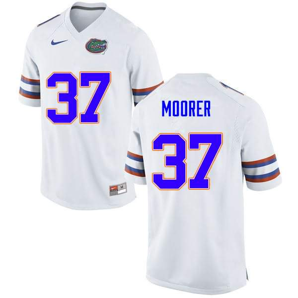 Men's Florida Gators #37 Patrick Moorer White Nike NCAA College Football Jersey OGR560AJ