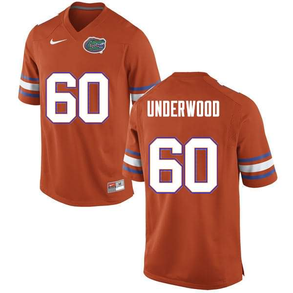 Men's Florida Gators #60 Houston Underwood Orange Nike NCAA College Football Jersey NNG410KJ