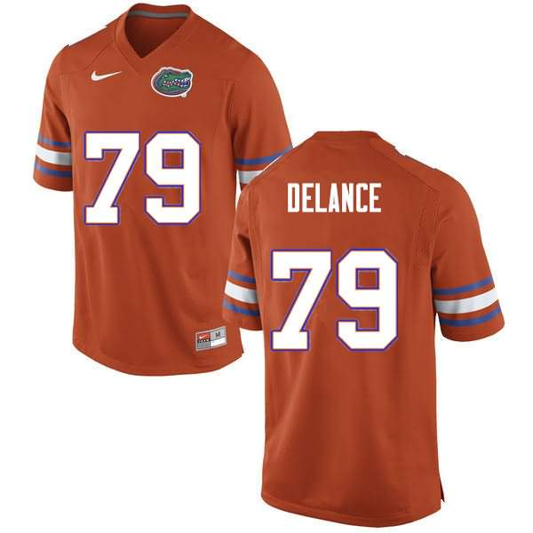 Men's Florida Gators #79 Jean DeLance Orange Nike NCAA College Football Jersey GFA807GJ