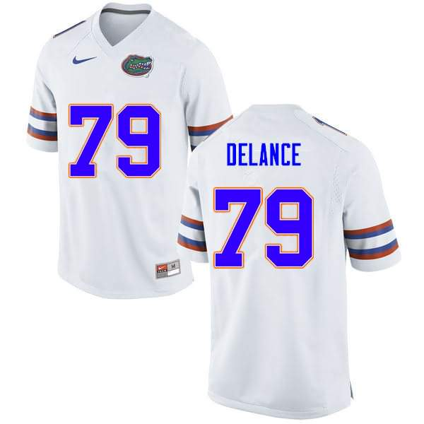 Men's Florida Gators #79 Jean DeLance White Nike NCAA College Football Jersey UQZ474CJ