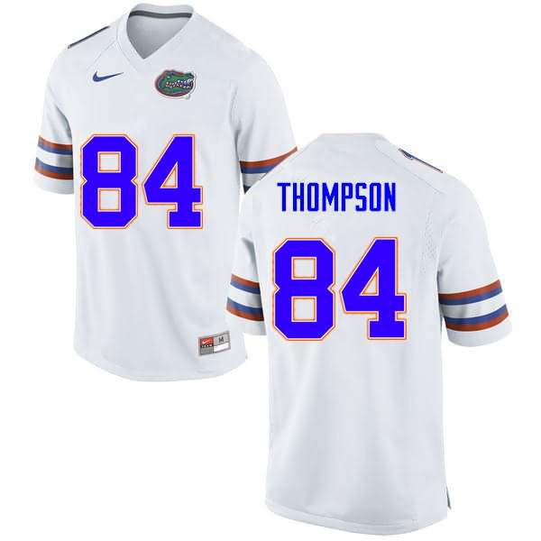 Men's Florida Gators #84 Trey Thompson White Nike NCAA College Football Jersey EBC081OJ