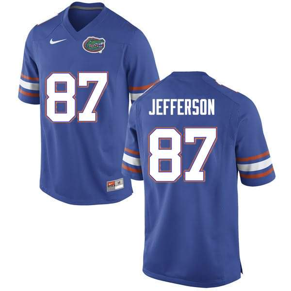 Men's Florida Gators #87 Van Jefferson Blue Nike NCAA College Football Jersey LDY372RJ