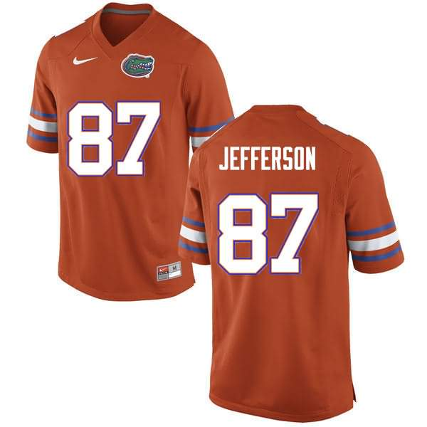 Men's Florida Gators #87 Van Jefferson Orange Nike NCAA College Football Jersey PFP680IJ