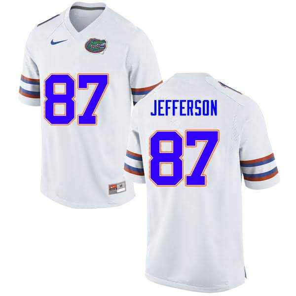 Men's Florida Gators #87 Van Jefferson White Nike NCAA College Football Jersey XMQ145SJ