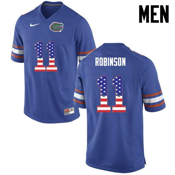Men's Florida Gators #11 Demarcus Robinson USA Flag Fashion Nike NCAA College Football Jersey XCL705EJ