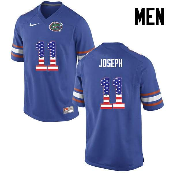 Men's Florida Gators #11 Vosean Joseph USA Flag Fashion Nike NCAA College Football Jersey SDS815SJ