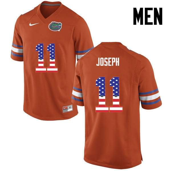 Men's Florida Gators #11 Vosean Joseph USA Flag Fashion Nike NCAA College Football Jersey EFT860XJ