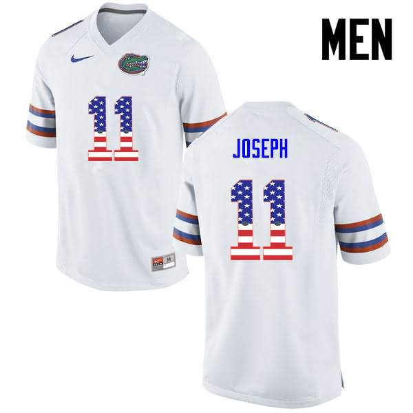 Men's Florida Gators #11 Vosean Joseph USA Flag Fashion Nike NCAA College Football Jersey UVN838AJ