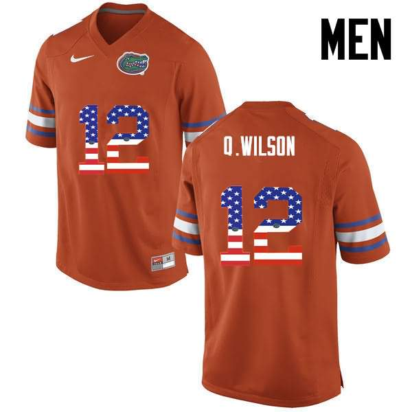 Men's Florida Gators #12 Quincy Wilson USA Flag Fashion Nike NCAA College Football Jersey FMF035QJ