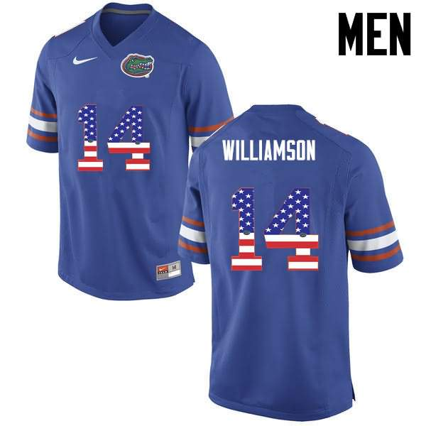 Men's Florida Gators #14 Chris Williamson USA Flag Fashion Nike NCAA College Football Jersey RWA638CJ