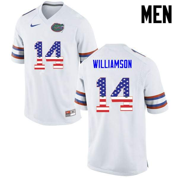 Men's Florida Gators #14 Chris Williamson USA Flag Fashion Nike NCAA College Football Jersey LAL756JJ