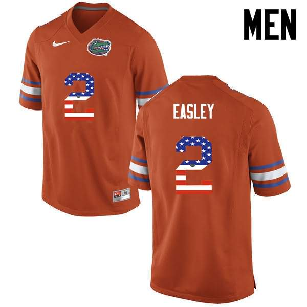 Men's Florida Gators #2 Dominique Easley USA Flag Fashion Nike NCAA College Football Jersey TYV158PJ