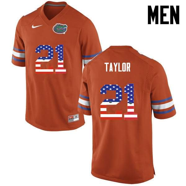 Men's Florida Gators #21 Fred Taylor USA Flag Fashion Nike NCAA College Football Jersey ZDT278VJ
