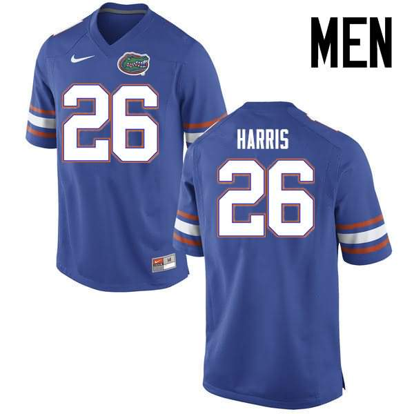 Men's Florida Gators #26 Marcell Harris Blue Nike NCAA College Football Jersey IOX605EJ