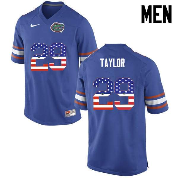 Men's Florida Gators #29 Jeawon Taylor USA Flag Fashion Nike NCAA College Football Jersey XPH815RJ