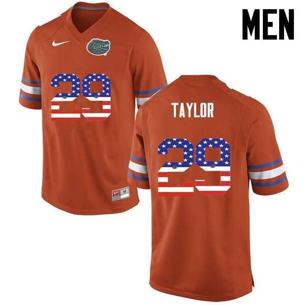 Men's Florida Gators #29 Jeawon Taylor USA Flag Fashion Nike NCAA College Football Jersey SEA186TJ