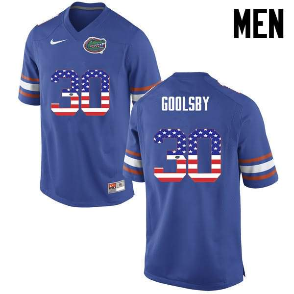 Men's Florida Gators #30 DeAndre Goolsby USA Flag Fashion Nike NCAA College Football Jersey YQH574OJ