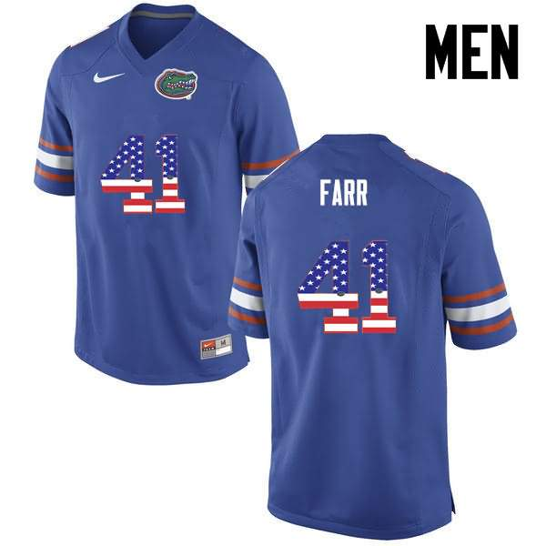 Men's Florida Gators #41 Ryan Farr USA Flag Fashion Nike NCAA College Football Jersey YSC414JJ