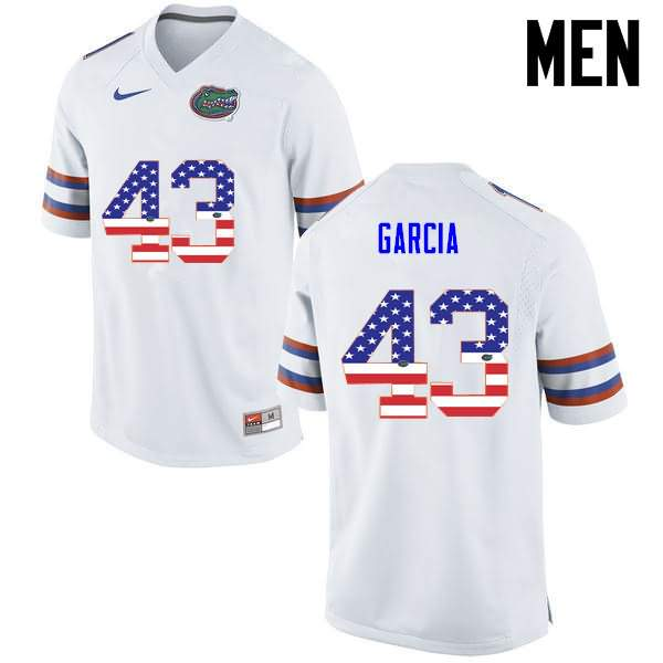 Men's Florida Gators #43 Cristian Garcia USA Flag Fashion Nike NCAA College Football Jersey KXS571OJ
